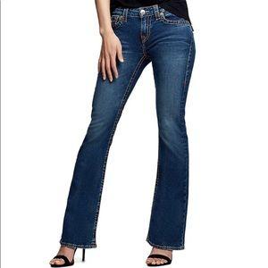 True Religion Joey Flare Jeans Women's 32 14 Dark